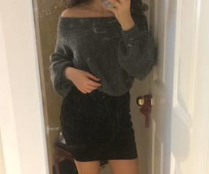fashion, mini skirt, and outfit image