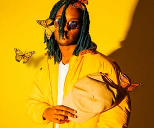 butterflies, menswear, and yellow image