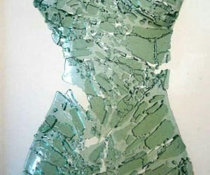 glass, broken, and art image