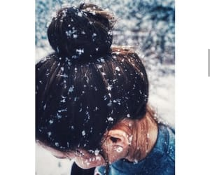 beautiful hair, girls, and winter snow image