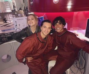 bob morley, clarke griffin, and bellamy blake image