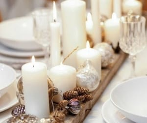 candle, christmas, and decoration image