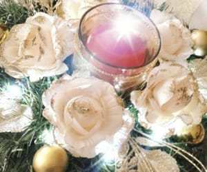 candle, centrepiece, and gold image
