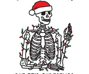 christmas, gif, and skeleton image