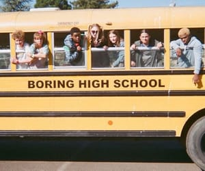 yellow, school, and vintage image