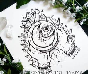 art, draw, and tattoo image