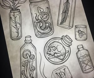 art, tattoo, and witch image