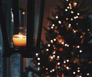 christmas, tree, and candel image