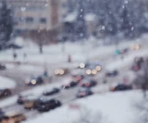gif, nyc, and snow image
