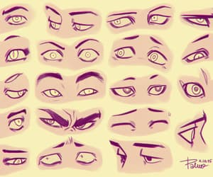 eyes, sketch, and drawing image
