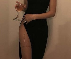 black, dress, and sexy image