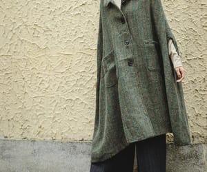 etsy, wool overcoat, and cloak wool coat image