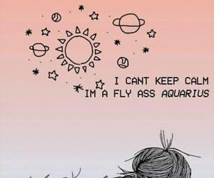 aquarius, horoscope, and keep calm image