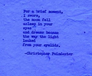 blue, poem, and love image