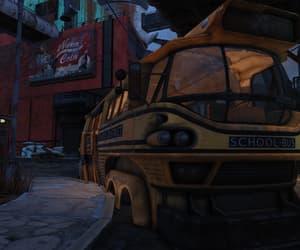 abandoned, apocalypse, and school bus image