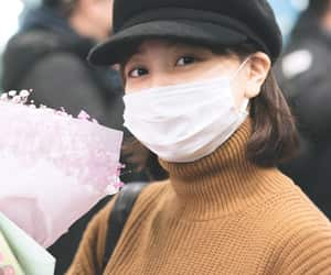 airport, brown hair, and twice image