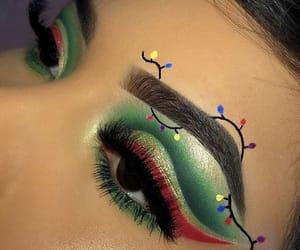 christmas, eyeshadow, and green image