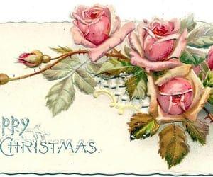 christmas, vintage christmas card, and vintagecards image