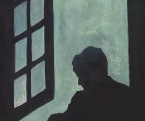alone, dark, and sombra image