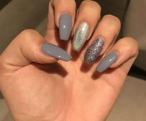 acrylic, fake nails, and fashion image