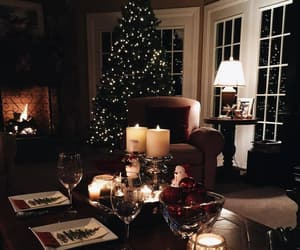 candles, christmas tree, and interior image