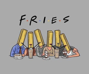 food, friends, and fries image