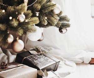 winter, christmas tree, and christmas day image
