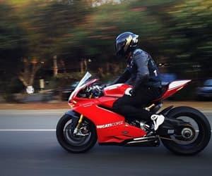 motorbike, motorcycle, and ride image