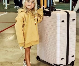 airport, kids, and suitcase image