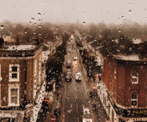 london and rain image