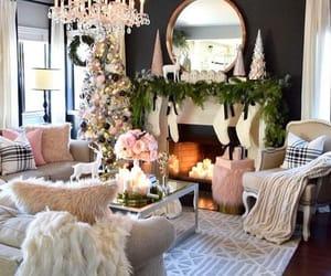 christmas, decor, and living room image