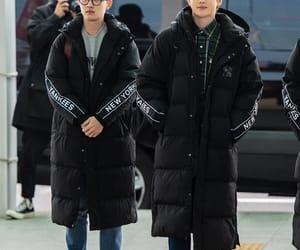 airport, do kyungsoo, and kim junmyeon image