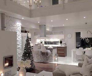 home, interior, and christmas image