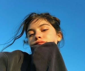 girl, aesthetic, and blue image
