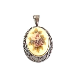 etsy, sterling silver, and cameo pendant image