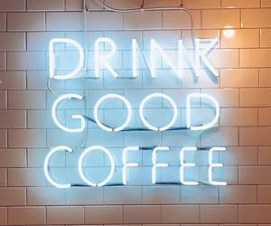 neon, coffee, and light image