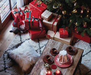 christmas, gifts, and christmas tree image