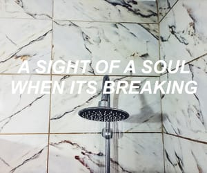 alone, bathroom, and breaking image