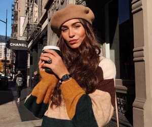 fashion, city, and coffee image