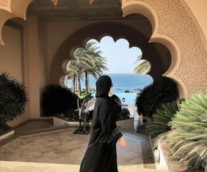 abaya, hijab, and holiday image