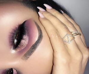 beautiful, cosmetics, and eyes image