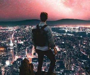 city, sky, and boy image