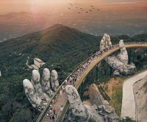 travel, Vietnam, and bridge image