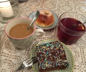 brownie, cake, and chocolate image