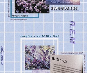 aesthetic, grid, and lilac image