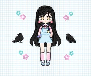 art, pastel girl, and illustration image