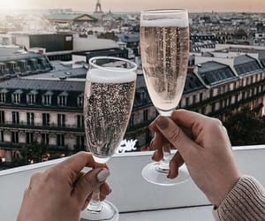 drink, travel, and paris image