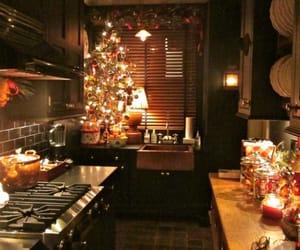 christmas, kitchen, and lights image
