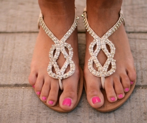 sandals, summer, and shoes image