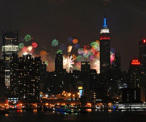 fireworks and new york image